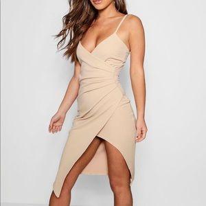 Boohoo Asymmetrical wrap dress